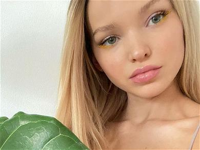 Dove Cameron Welcomes 2021 Braless With Massive Thigh Gap