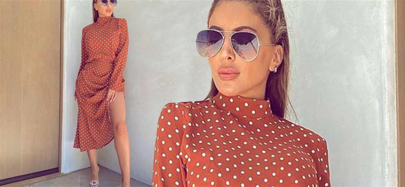 Larsa Pippen Stuns In Red Polka Dot Dress; Says Fans Will Be Seeing Less Of Her