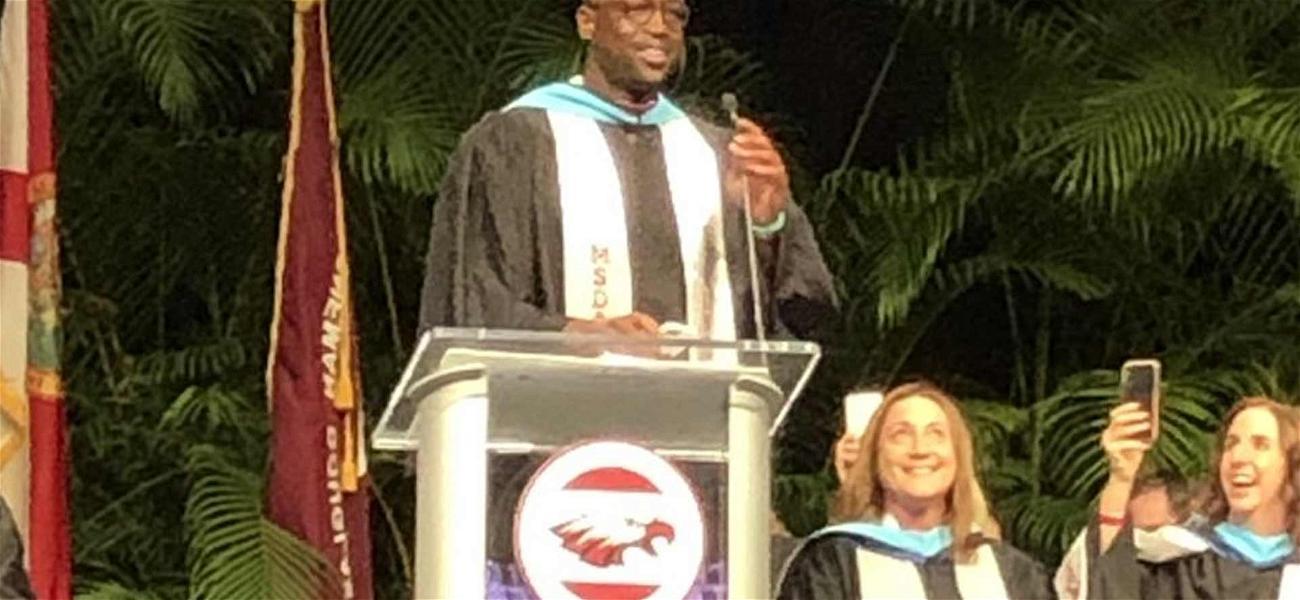Dwyane Wade Makes Surprise Appearance at Marjory Stoneman Douglas Graduation