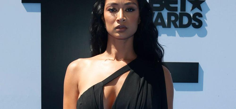 Draya Michele Rocks A Cupped Latex Dress So Tight, It's Barely Holding On