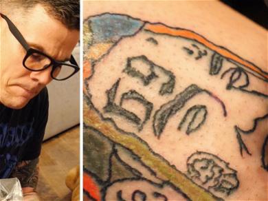 Steve-O Tattooed Tekashi 6ix9ine's Face On His Friend's Leg
