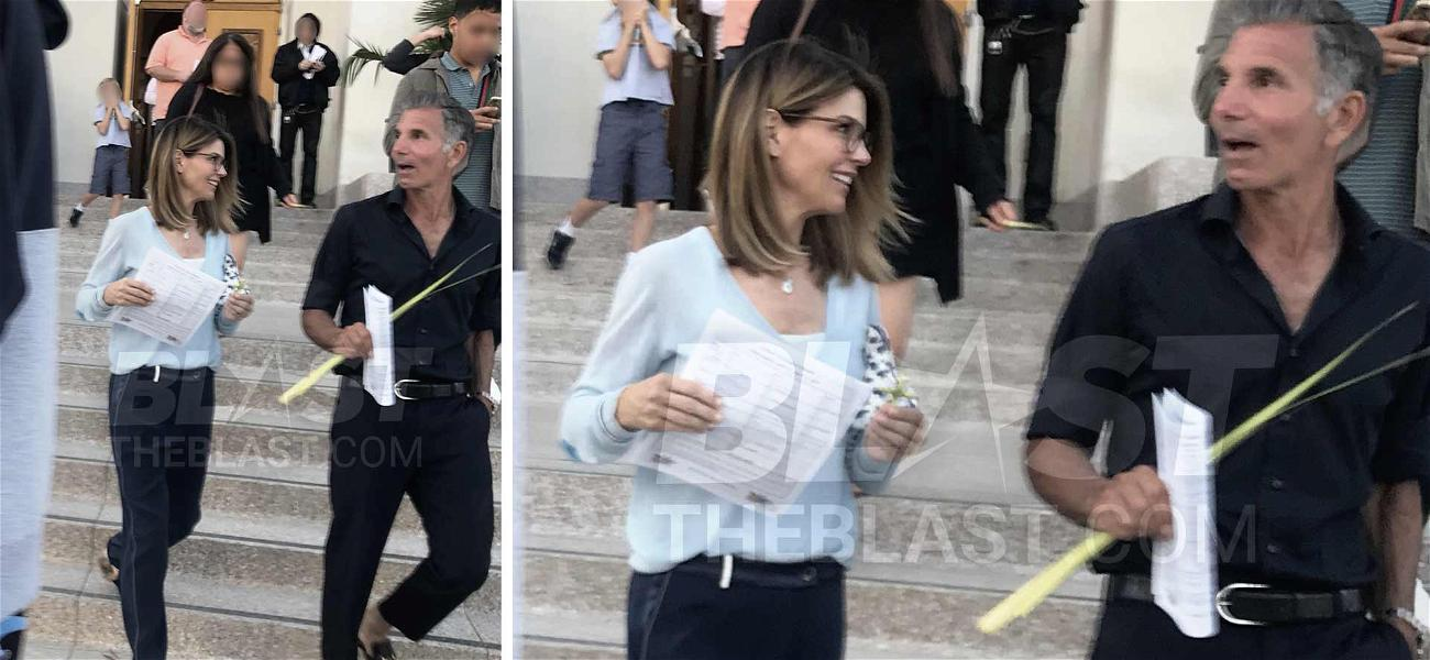 Lori Loughlin & Mossimo Giannulli Lead Church Procession at Palm Sunday Mass Before Pleading Not Guilty