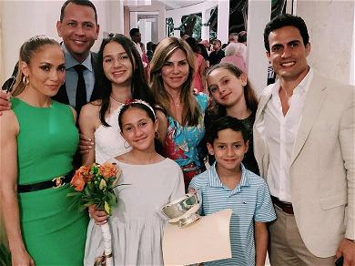 J. Lo Supports A-Rod's Oldest Daughter at Her Middle School Graduation