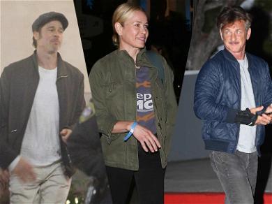 Brad Pitt, Chelsea Handler and Sean Penn Walk Into a U2 Concert