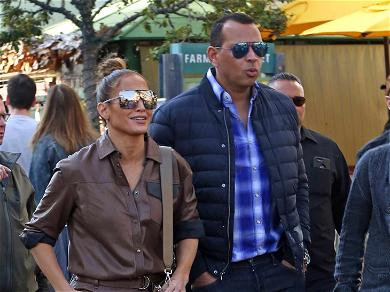 JLo and ARod Brave the Busiest L.A. Mall for Last-Minute Xmas Shopping