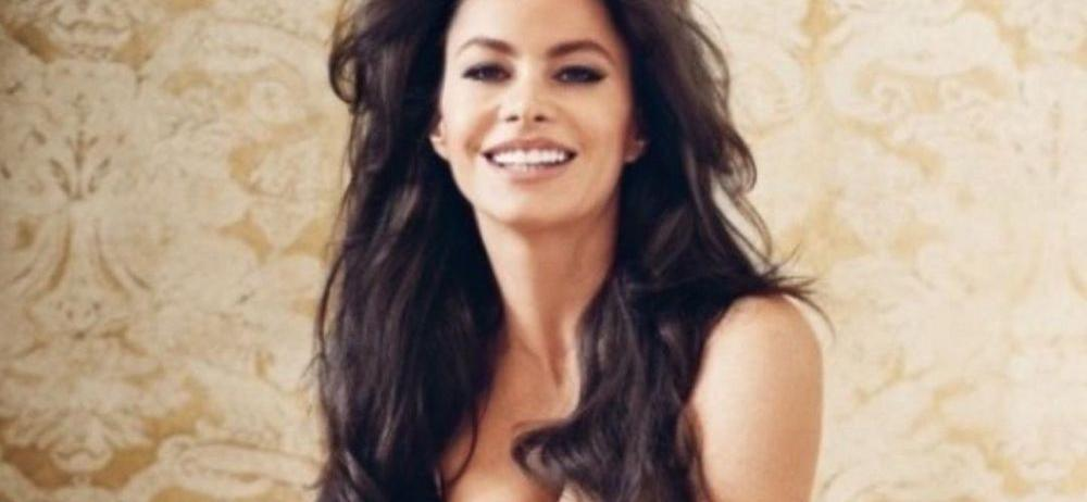 Sofia Vergara Opens WIDE In Plunging Corset While Losing Shirt