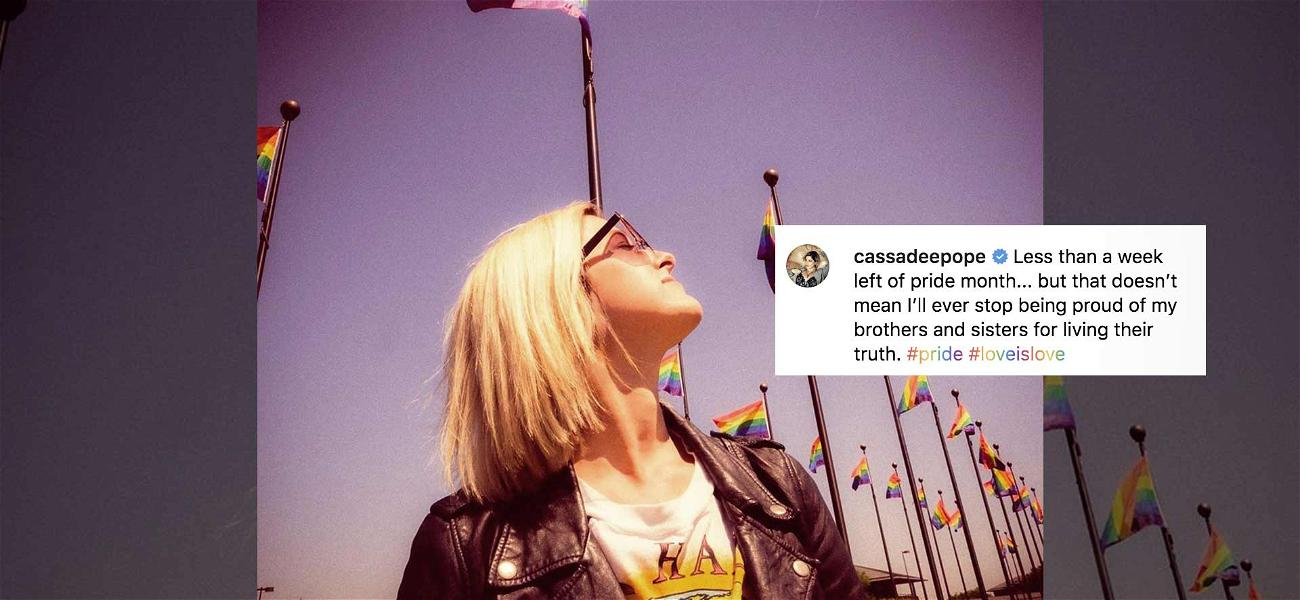 Country Star Cassadee Pope's Pride Month Message Receives Backlash