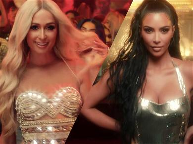 Paris Hilton Can't Get Enough of Kim Kardashian's Ass in New Music Video