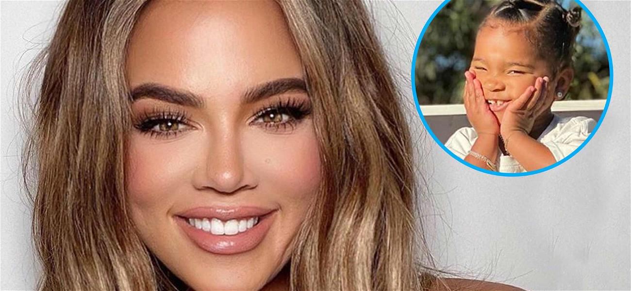 Khloe Kardashian Shows Off Daughter True Thompson's Cheesy Smile For Unbelievably Cute P.S.A.
