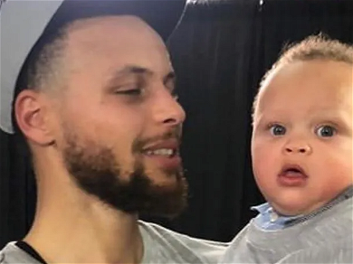 Steph Curry's Toddler Scores Perfect Dunk In Home Video