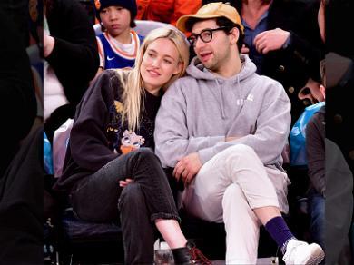 Jack Antonoff Snuggles with Model Carlotta Kohl at N.Y. Knicks Game
