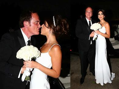 Quentin Tarantino Hits the Town After Tying the Knot