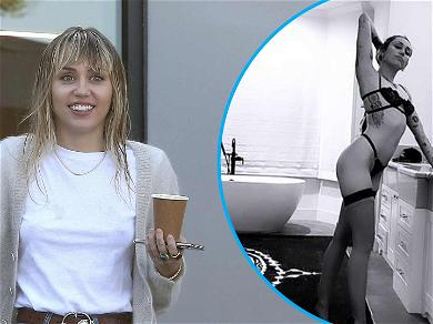 Miley Cyrus Leaves Little To The Imagination In Lingerie Haircut Pic With Cody Simpson