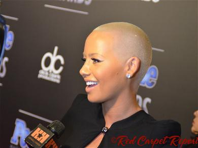 Amber Rose Gets Forehead Tattoo of Her Kid's Names