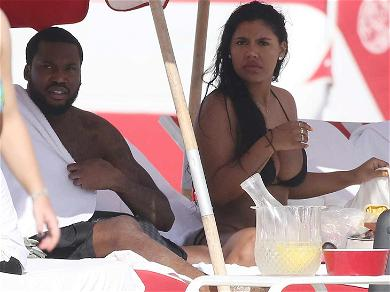 Meek Mill: Suns Out, Buns Out With Three Bikini-Clad Beauties
