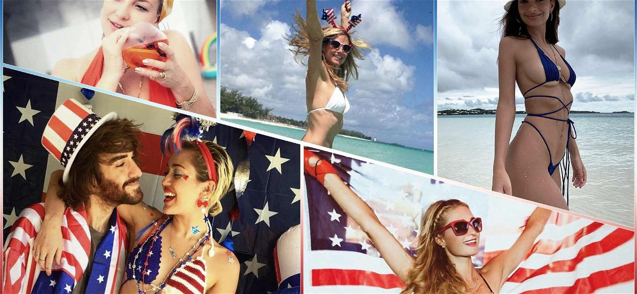 God Bless 'Merica! Famous Babes In Bikinis On 4th of July