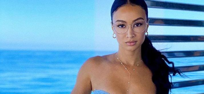 Draya MicheleChannels Inner 'Soul Singer' In Cleavage Leather Bustier
