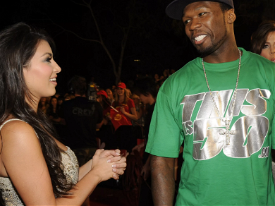50 Cent Supports Kim Kardashian During Kanye West Breakdown — 'She's Being Very Understanding'