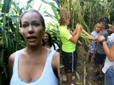 Kendra Wilkinson Gets Lost in a Halloween Corn Maze With Kids