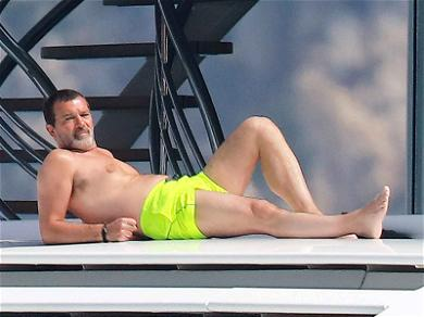 Antonio Banderas Loses His Shirt for a Little R&R in St. Tropez