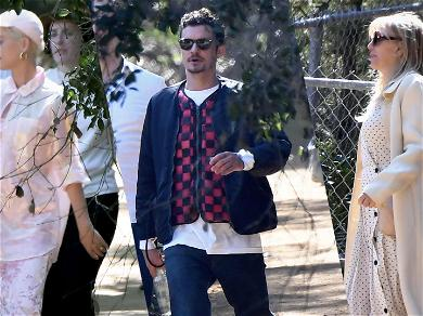 Katy Perry, Orlando Bloom and Courtney Love (?) Attend Kanye's Sunday Service