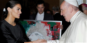 Drake's Baby Mama Shares Photos Hanging With Pope Francis, Gave Him Sick Gift