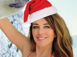 Elizabeth Hurley Sizzles In Cheeky Holiday Bikini With Polar Bears