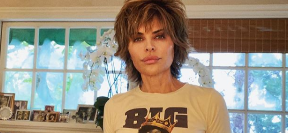 Lisa Rinna Sparks Coronavirus Comments In Strung-Out Underwear Shot