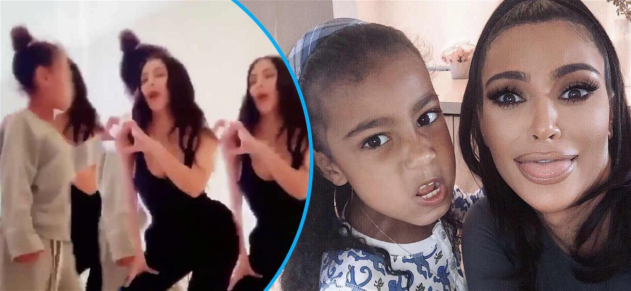 Kim Kardashian and Daughter North West Star In Adorable Tik Tok Dance Video