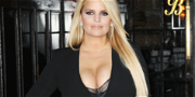 Jessica Simpson Pantless & Unbuttoned In Sexy Snow Boots