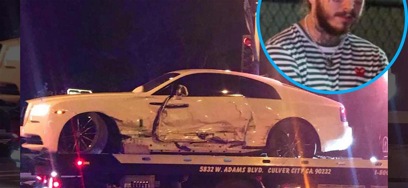Post Malone Uninjured After Serious Car Wreck in West Hollywood