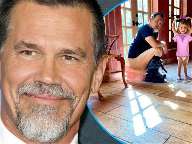 Josh Brolin Uses Daughter's Tiny Toilet To Drop Knowledge During Potty Training