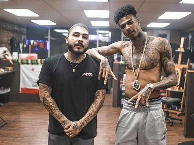 Blueface Inks Himself With a SoundCloud Tattoo Paying Homage to His Genre