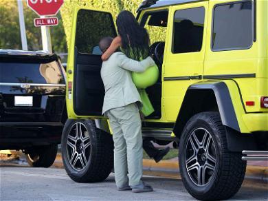 Kanye West Supports Kim Kardashian During Ice Cream Run at 2 Chainz Wedding
