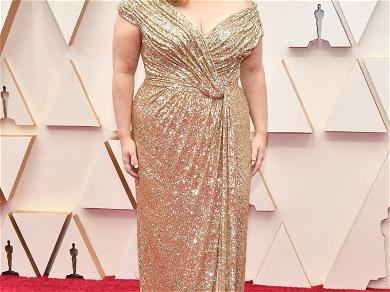Rebel Wilson Rocks the Oscars Red Carpet in an Outlandish Gold Gown