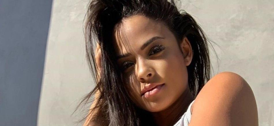 Christina Milian Shows Off Stunning Body In Peach Gym Shorts On L.A. Bike Ride