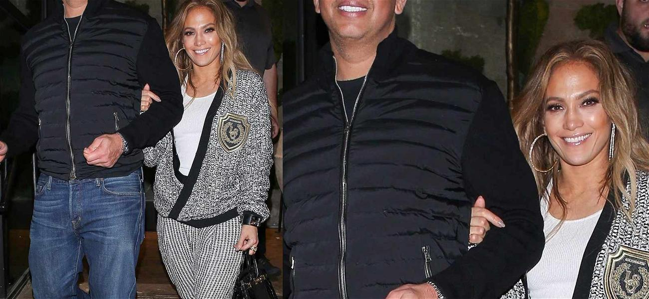 JLo & A-Rod Shellfishly Stick Driver with Bill After Fancy Greek Dinner