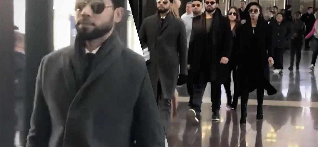 Jussie Smollett Arrives to Court in Chicago for Hearing About Cameras