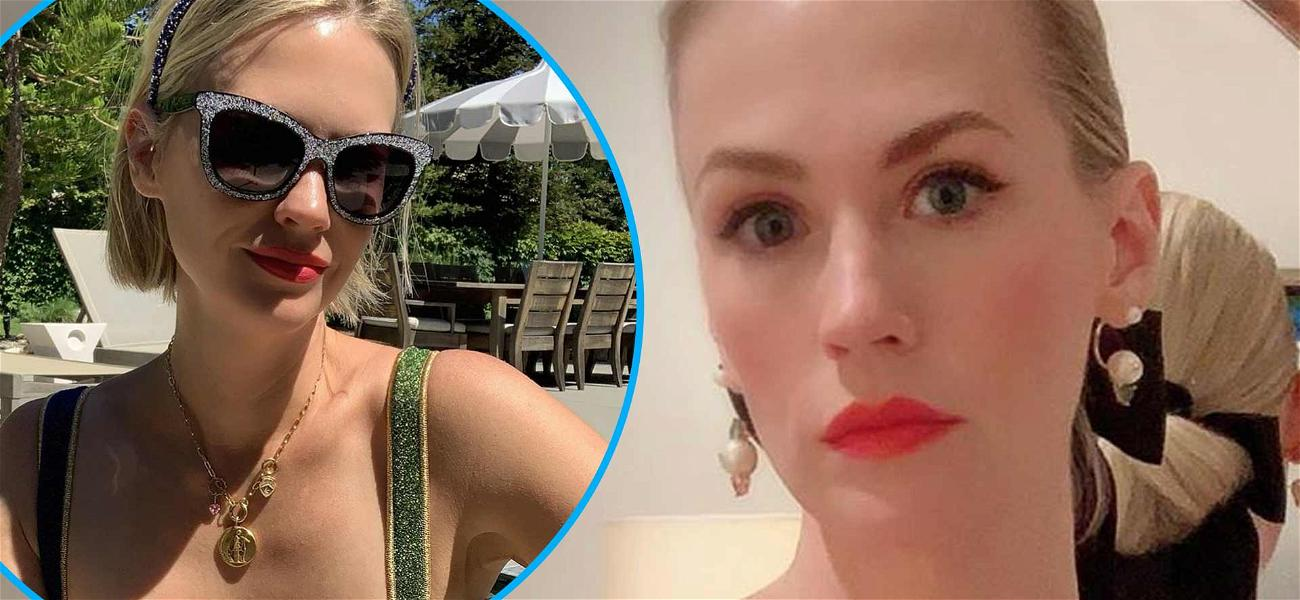 January Jones Puts On Busty Display To Beat The Heat Dome