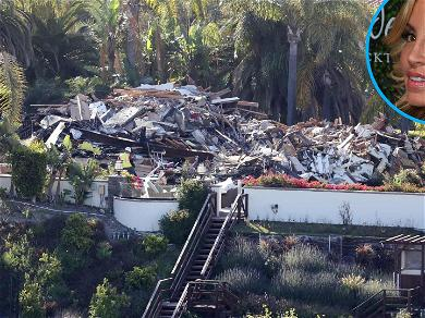 'RHOBH' Camille Grammer's Malibu Mansion Reduced to Rubble As Restoration Work Begins