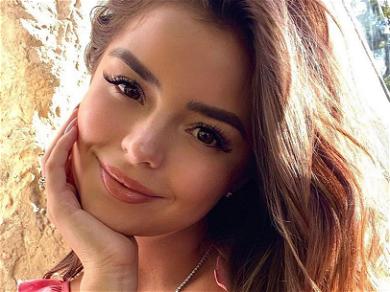 Demi Rose Shows Off Cute Face, Slim Waist In Skintight Curve-Hugger On Ibiza Streets