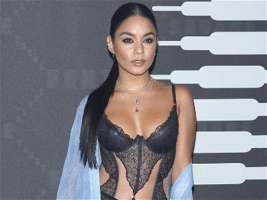 Vanessa Hudgens CRUSHES 'Thirsty Thursday' Slipping Out Lingerie Camisole With Rolled-Down Pantyhose