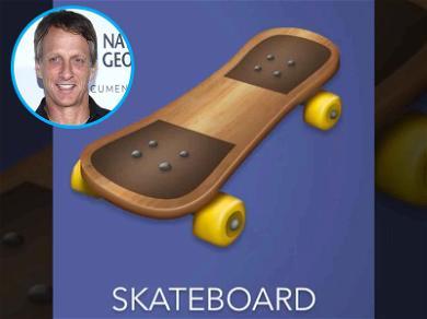 Tony Hawk Ramping Up Lame Skateboard Emoji