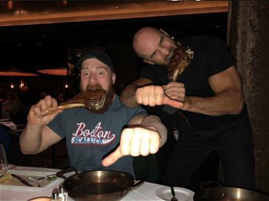 WWE Stars Tag Team Gigantic Slab of Meat in Las Vegas
