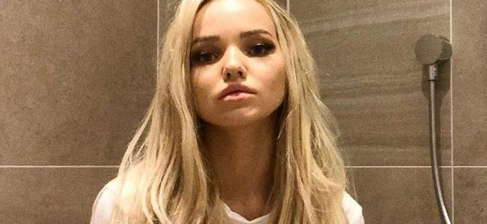 Dove Cameron Hikes Up Tinkerbell Dress While Ghosting Her Bra