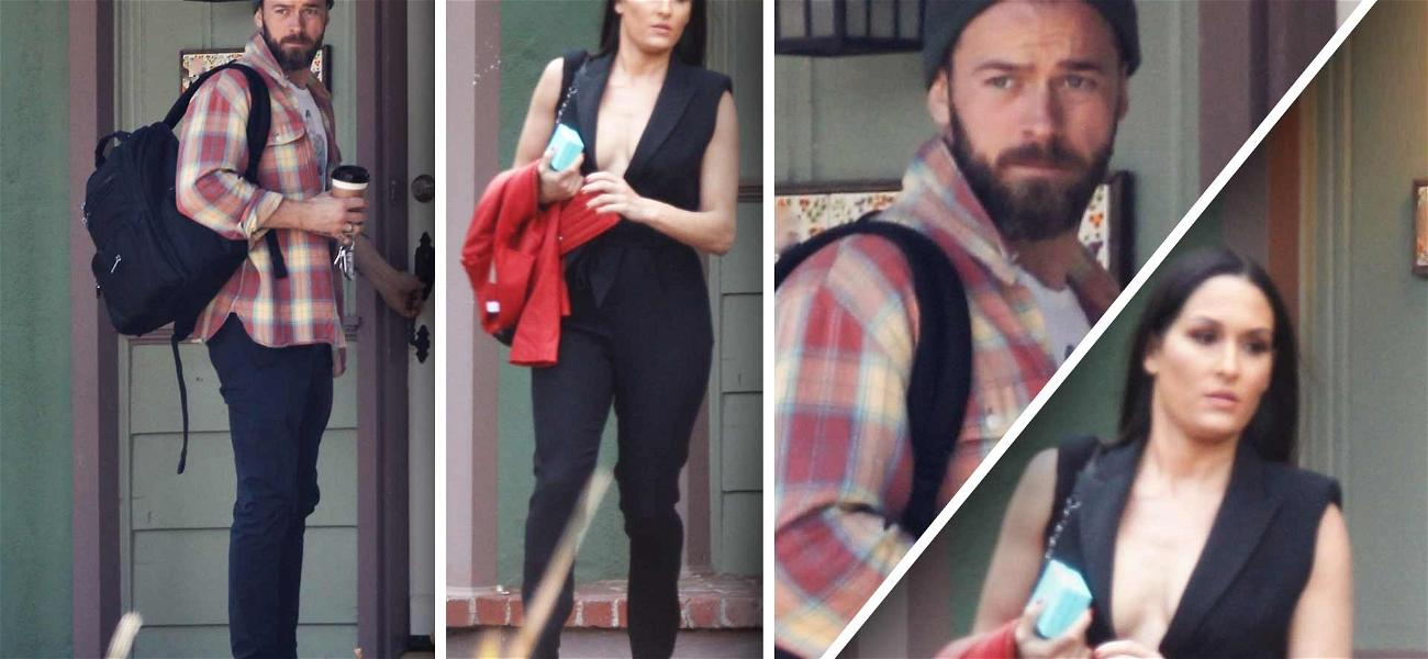 Nikki Bella Glows During Early Morning Exit from 'DWTS' Partner Artem Chigvintsev's Home