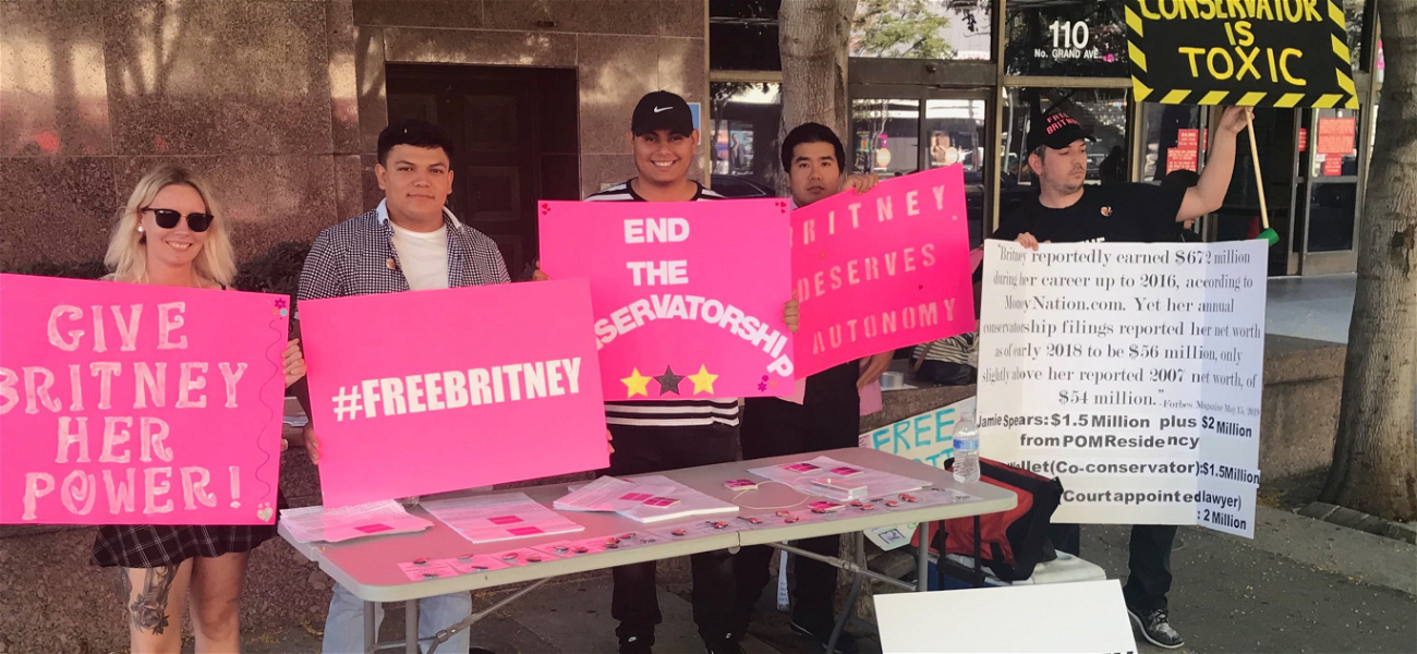 #FreeBritney Protestors Gather Outside Courthouse for Conservatorship Hearing
