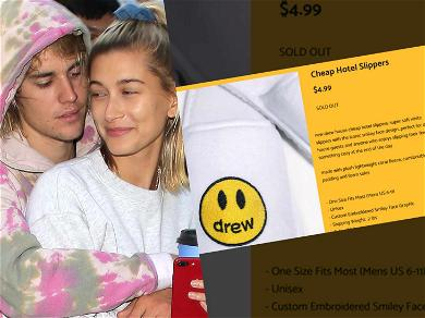 Justin Bieber Sells Out His 'Cheap Hotel Slippers' With Wife Hailey's Help