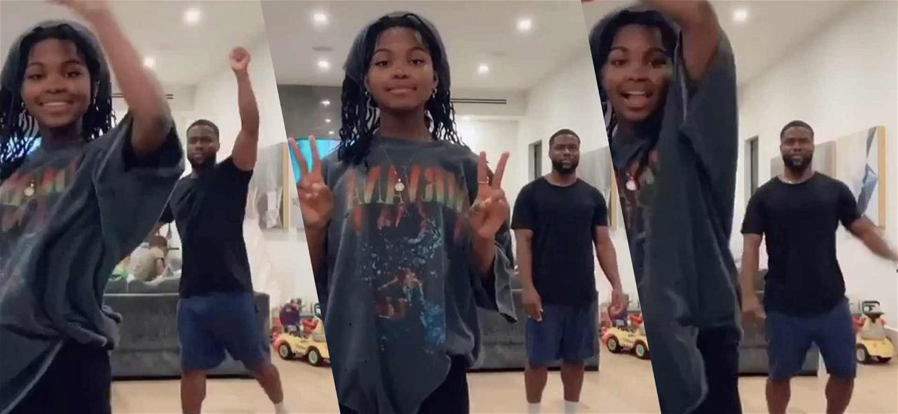 Kevin Hart Shares 'Old Man' Dance But His Daughter Steals The Show