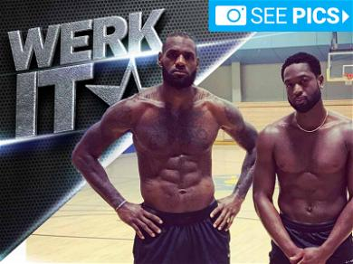 LeBron James and Dwyane Wade Are Workout Besties
